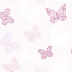 Kids at Home Behang Butterfly roze 100114