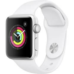 Apple 38 mm Aluminium kast Zilver Sportband Wit