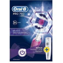 Oral B Elektrische Tandenborstel Pro 750 Crossaction Pink Travelcase