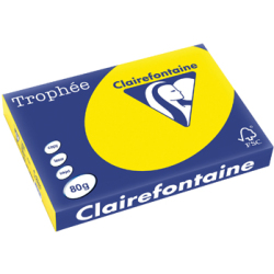 Clairefontaine Trophée Intens A3 fluo geel 80 g 500 vel