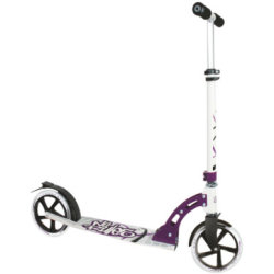 Authentic Sports Aluminium Step Scooter No Rules 205mm zwart wit lila
