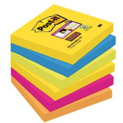 Post it Plaknotitie 6546SR 76 mm x 76 mm Neon groen Ultrablauw Ultra geel Ultra roze Neon oranje 540 vellen