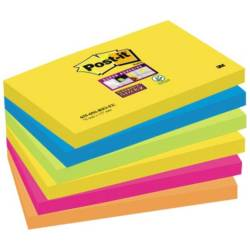 Post it Plaknotitie 6556SR 127 mm x 76 mm Neon groen Neon oranje Ultrablauw Ultra geel Ultra roze 540 vellen