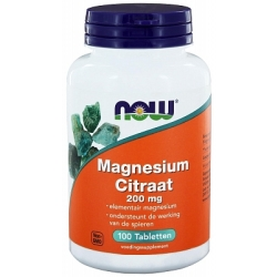 Now Magnesium Citraat 200mg