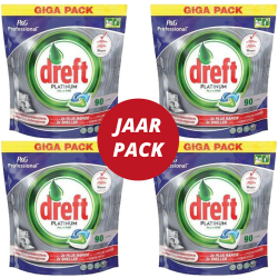 Dreft vaatwastabletten All in One Platinum pak van 90 tabletten