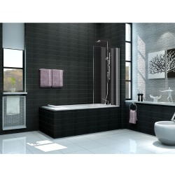 Wiesbaden Bedge Bath Badwand 80x150cm 6mm dik NANO coating glas chroom 20.3860