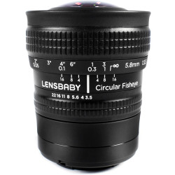 Lensbaby Objectif Fisheye 5.8mm circulaire pour Sony E