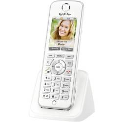 AVM FRITZ Fon C4 International Draadloze VoIP telefoon Handsfree Headsetaansluiting Kleurendisplay Wit Zilver