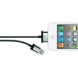 Belkin iPad iPhone iPod Datakabel Laadkabel 1x USB A 2.0 stekker 1x Apple dock stekker 2 m Zwart